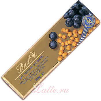 Lindt, Gold Milk with Raisin and Hazelnut шоколадная плитка 300 г
